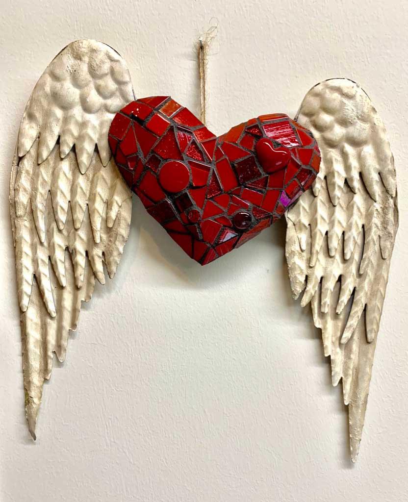 Angel Wings Mosaic Artwork
