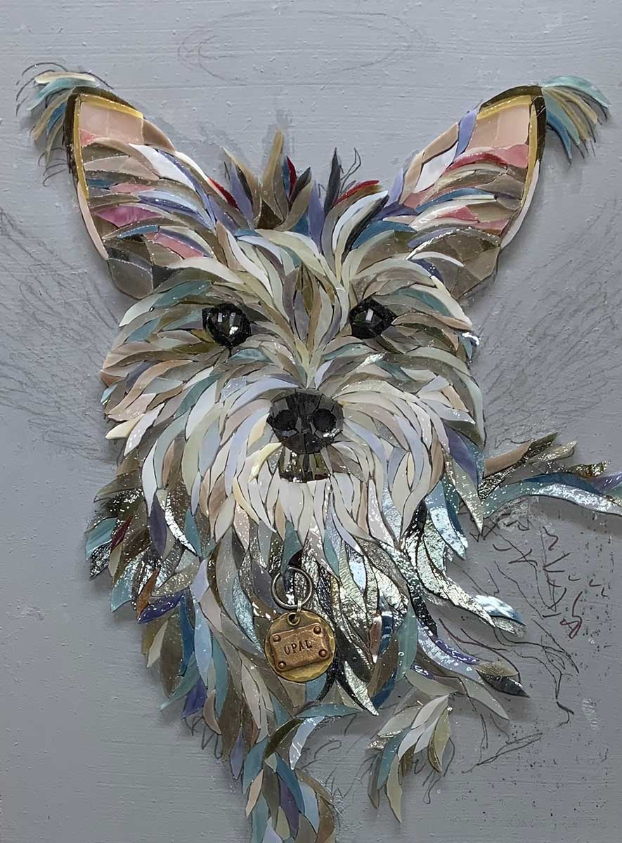 Cute Dog Mosaic Artwork