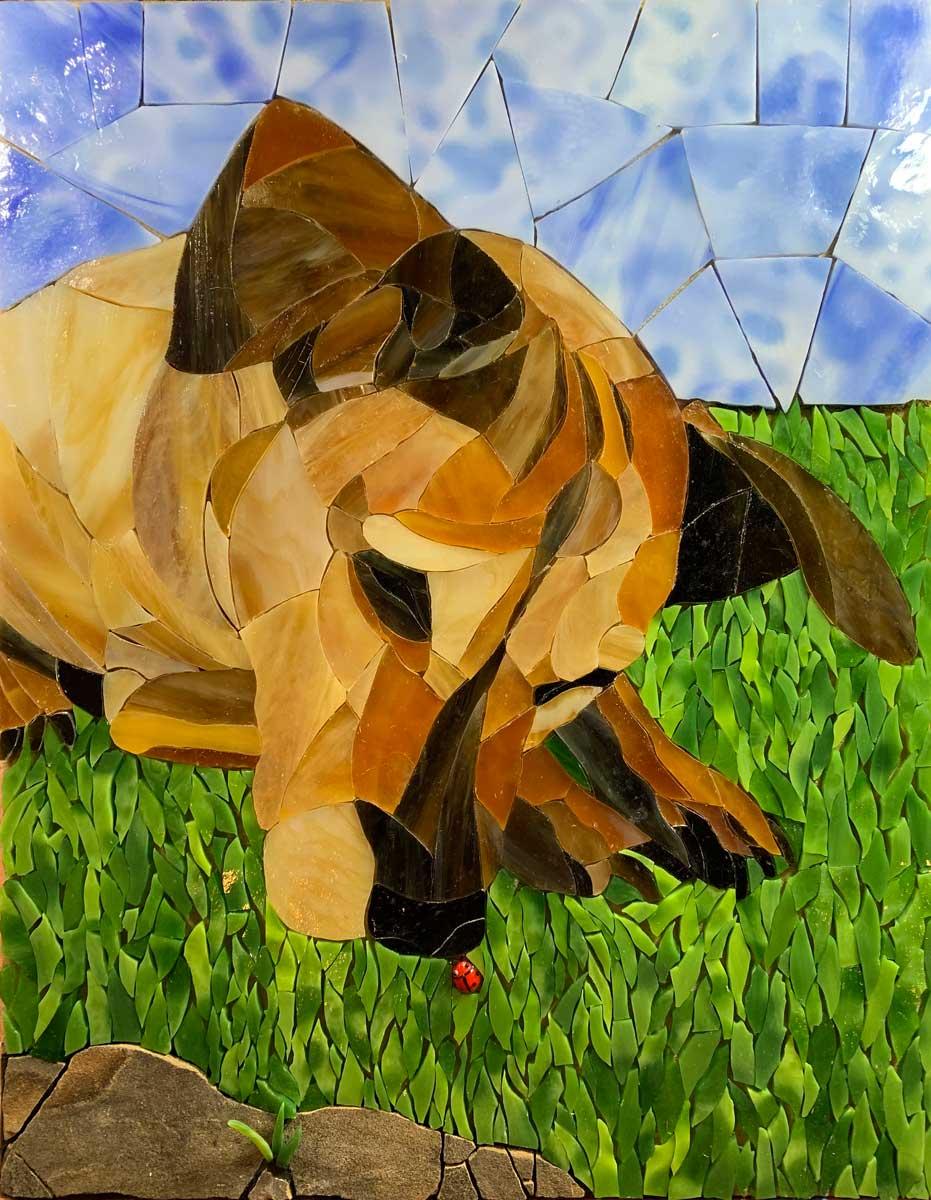 Dog Mosaic Art Commission