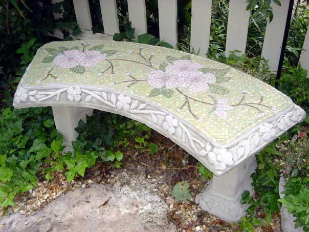 Flower Bench Mosaic Artwork