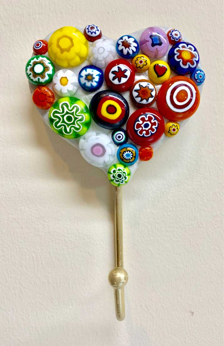 Heart on a Stick Pin Mosaic Artwork