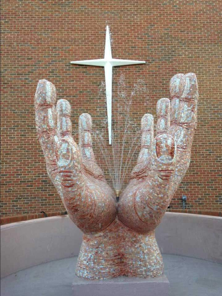In His Hands Mosaic Sculpture Commission