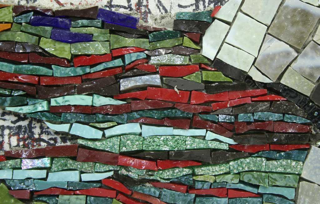 Japanese Garden Detail Mosaic Artwork