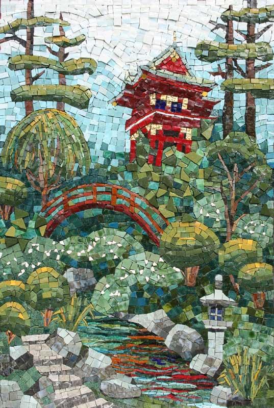 Japanese Garden Mosaic Artwork