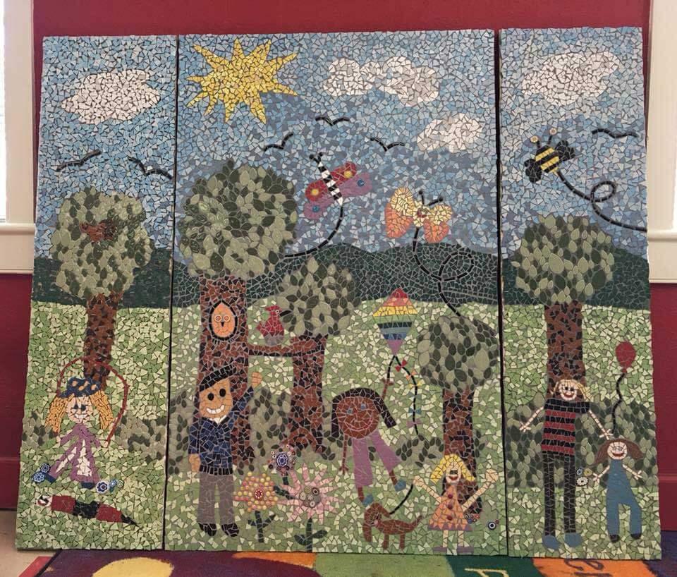 Kids Mosaic ArtworkThree Panel