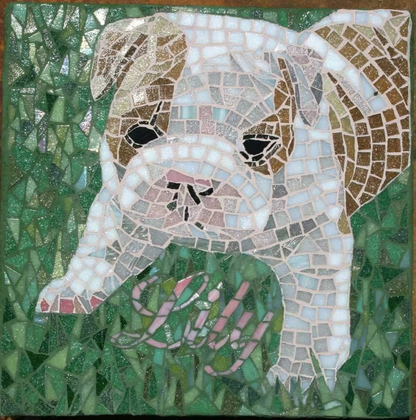 Lily Dog Mosaic Art Commission