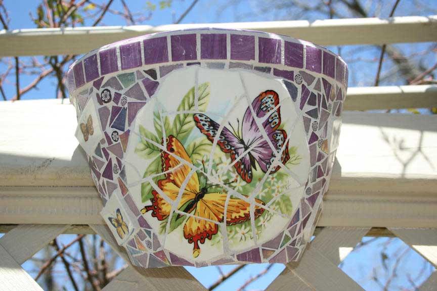 Butterfly Mosaic Artwork