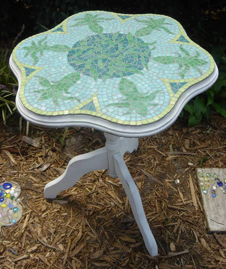 Sunflower Table Mosaic Commission