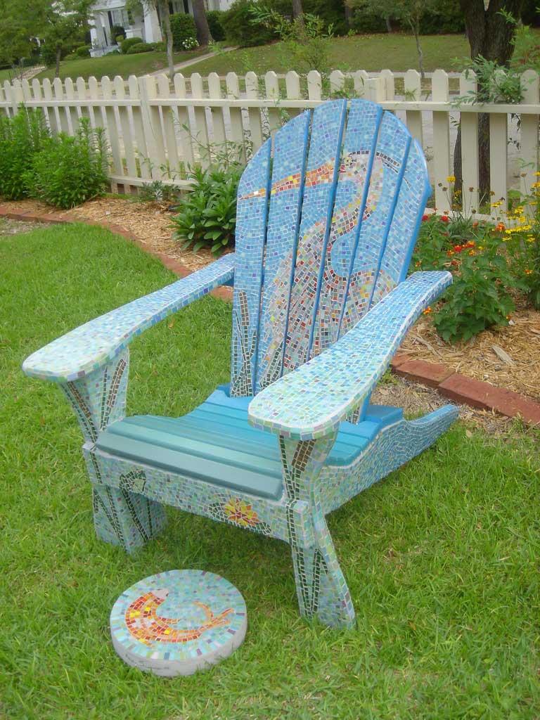 Outdoor Chair Mosaic Artwork
