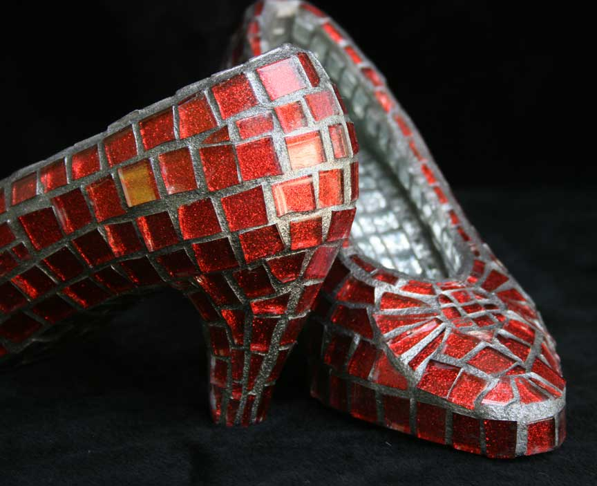 Ruby Slippers Mosaic Artwork