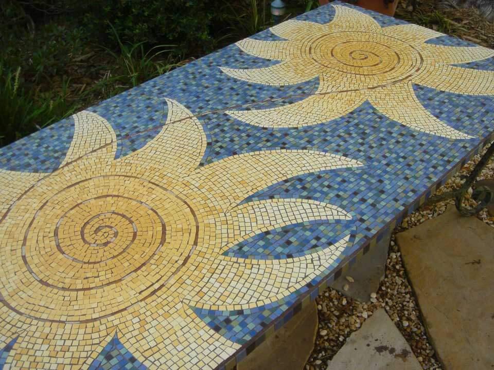 Sun Mosaic Artwork