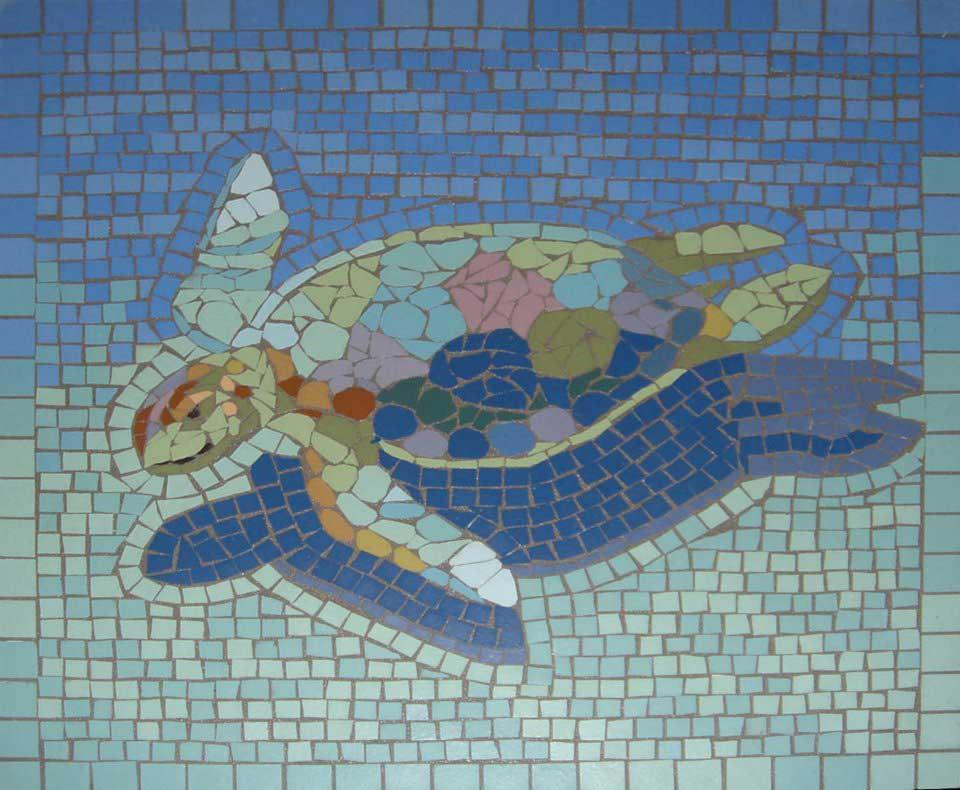 Turtle Mosaic Artwork