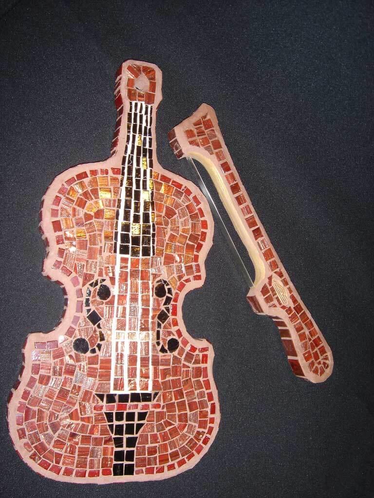 Violin Mosaic Artwork